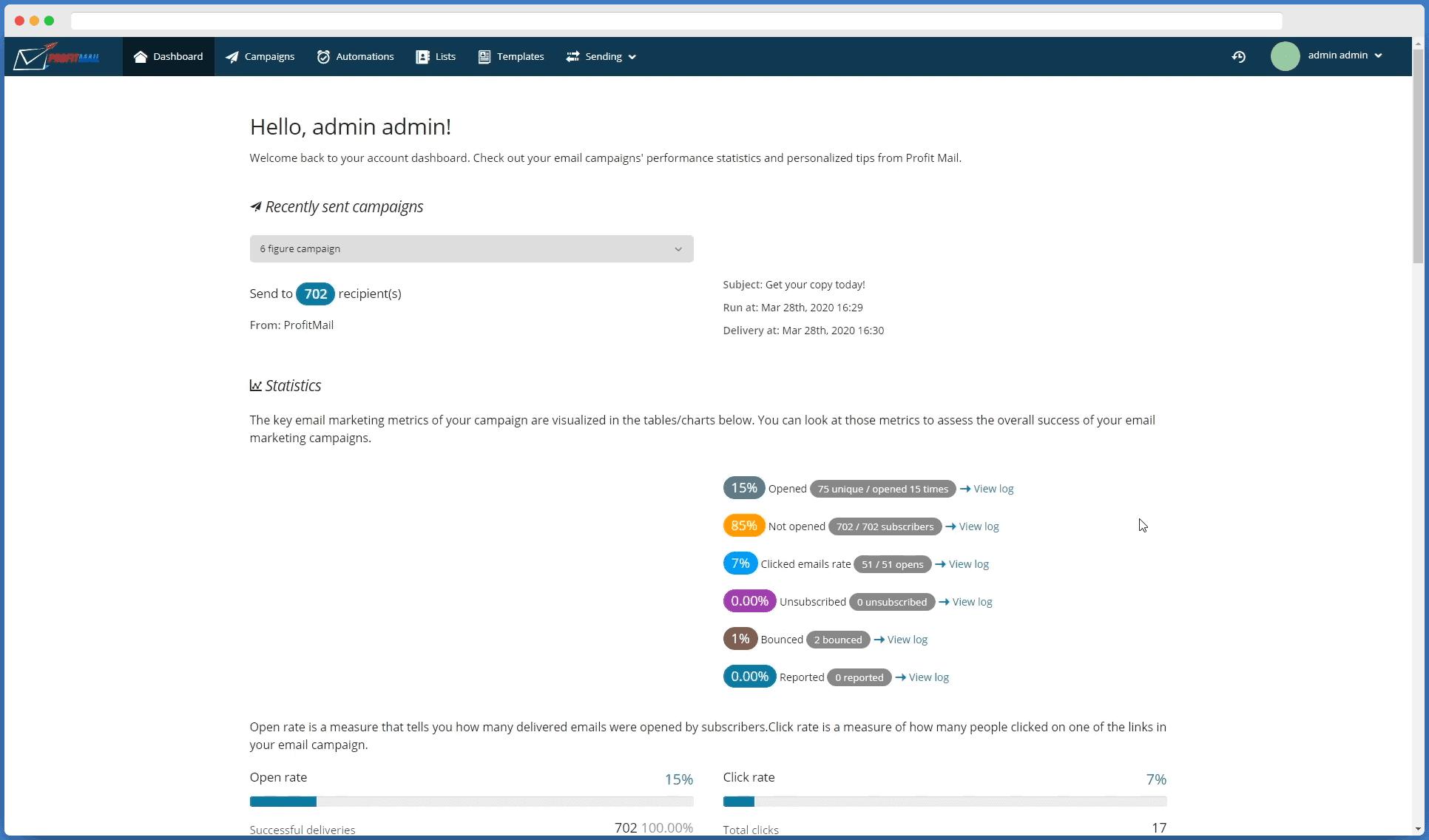 ProfitMail Demo