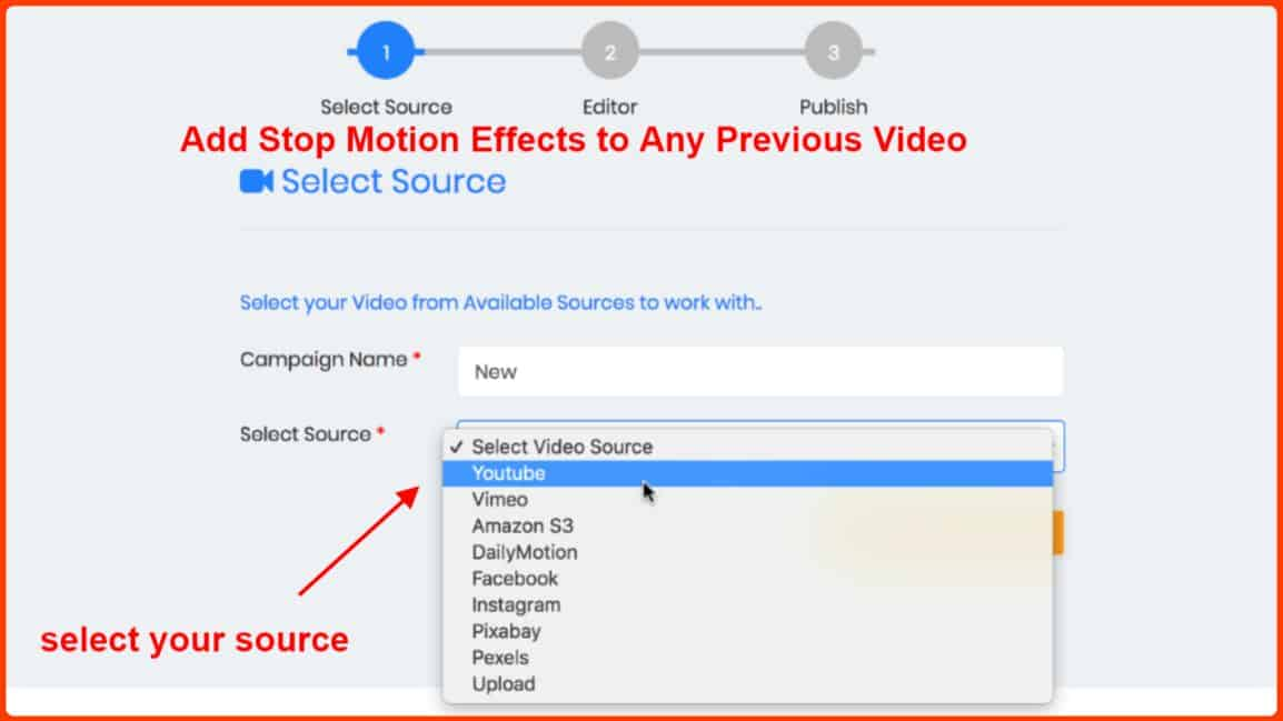 StopMotionSuite Review - Choose any video
