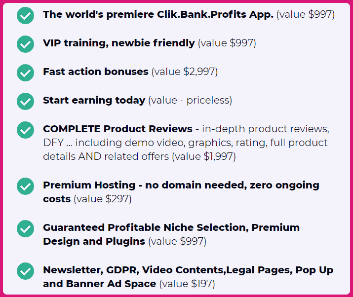 ClickBank Profits Review - What You Get