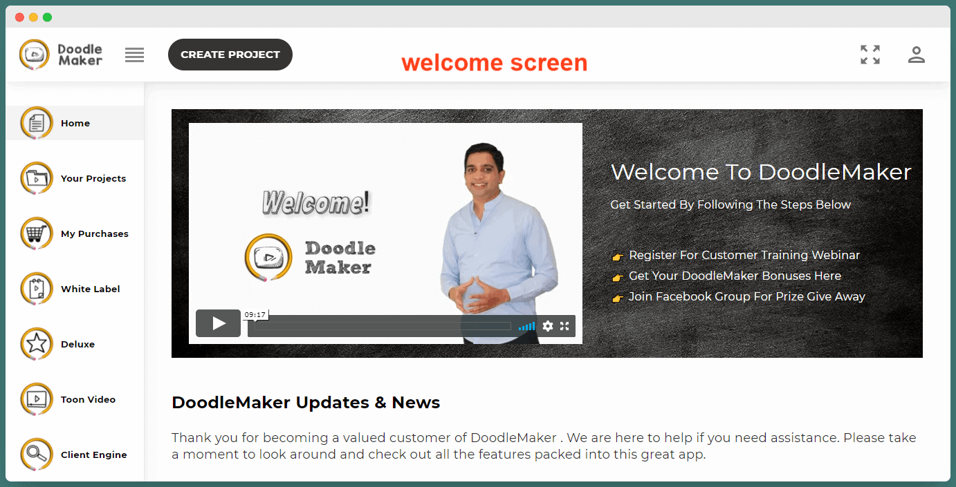 Doodle Maker Review - Dashboard
