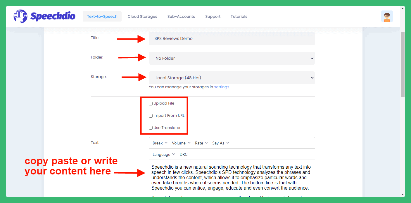Speechdio Review - Name and Write Your Script