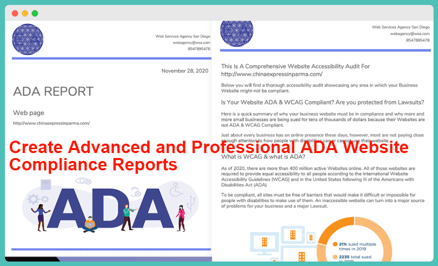 ADA Leadz Review - Create Advanced and Professional ADA Website Compliance Reports