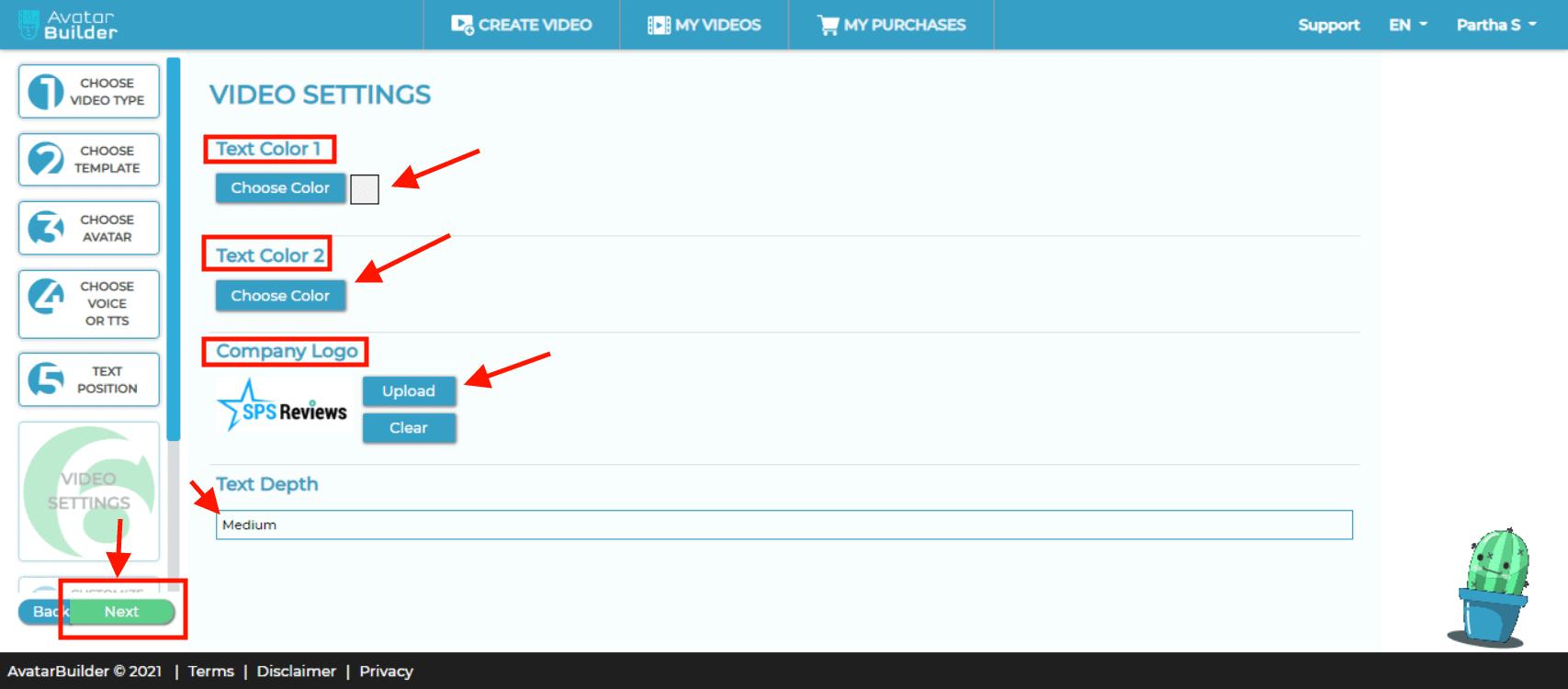 avatarbuilder - upload your company logo
