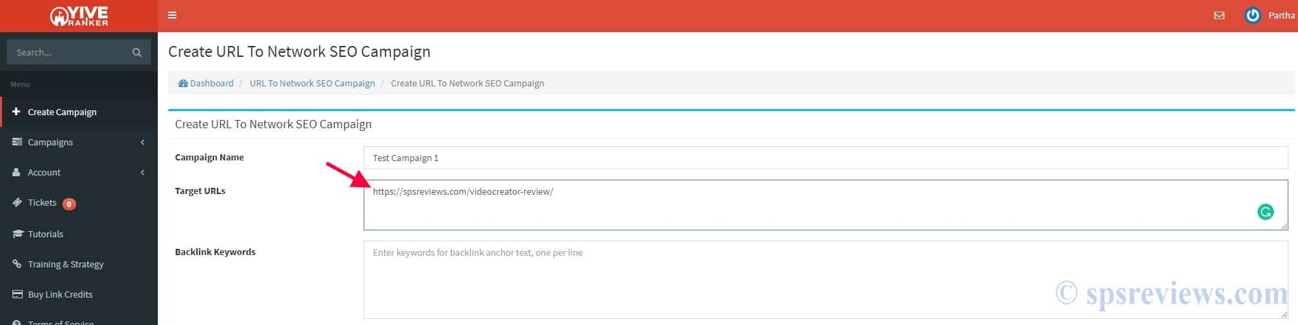 YIVE Ranker Review: Step 1 - Enter Your URL