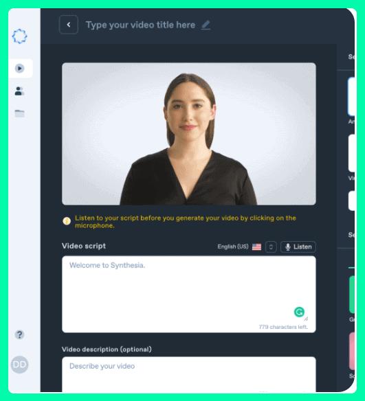 Synthesia.io AI Video Creator