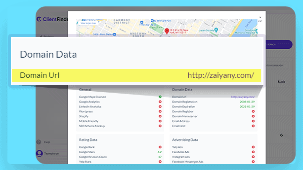 ClientFinda Review: The Domain Data