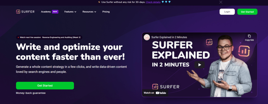 Jarvis.ai With Surfer SEO
