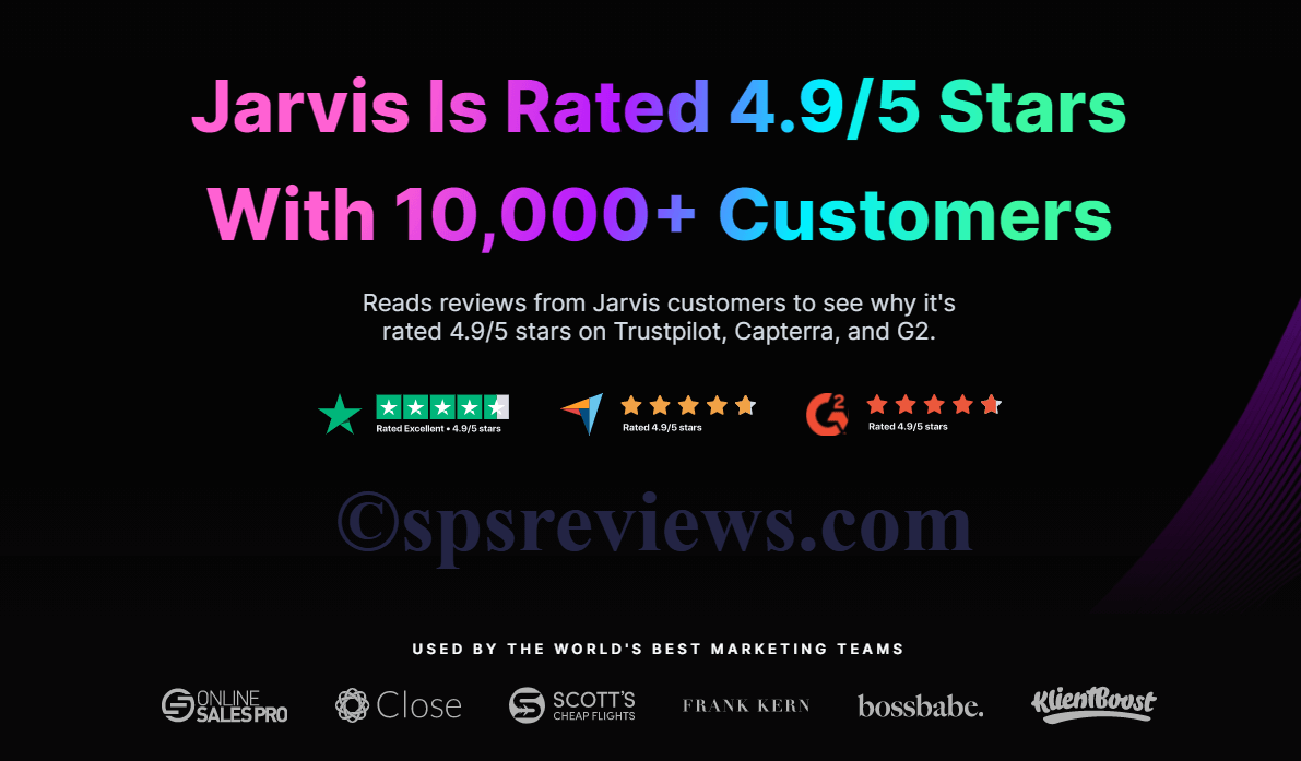 Jarvis AI ratings from top companies and brands