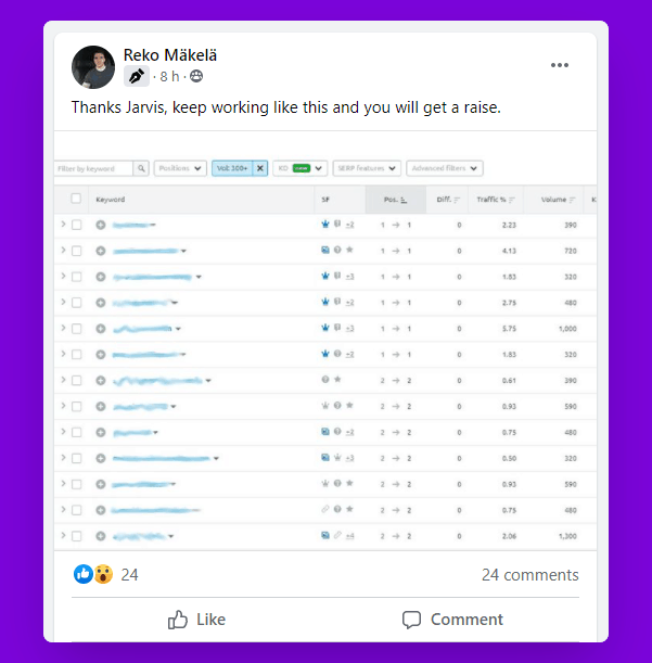 Jarvis.ai review: Ranking proof