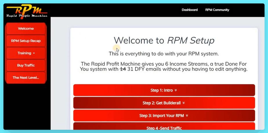 Rapid Profit Machine Review - You Have Set Up Tutorials