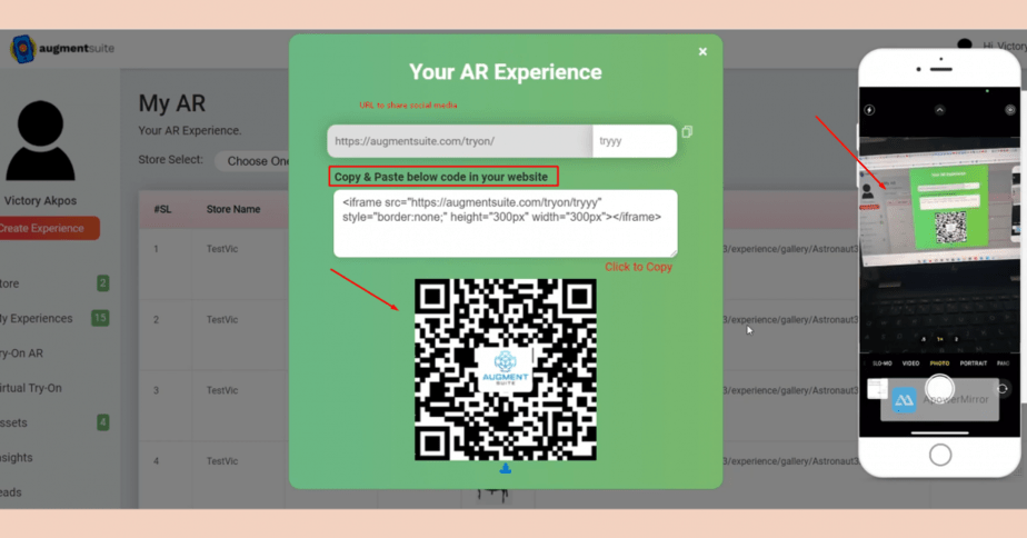 Augment Suite Review - Scan the QR code