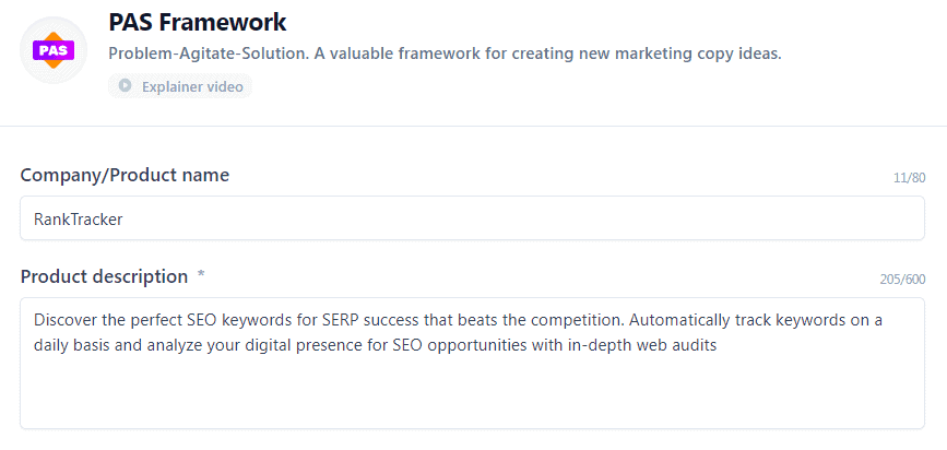 Jarvis.ai Review - PAS Framework